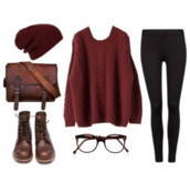sweater,oversized sweater,jersey,vintage sweater,garnet,burgundy sweater,hat,dark red,large style,jacket,shoes,bag,beautymanifesto,brown leather bag,shirt,pull,burgundy,bonnet,pantalon,noir,pants,back to school,fall outfits,glasses,boots,pullover,leggings,cap,cute,hipster,red,red and black,warm,cozy,burn,sunglasses,vintage,brown,jeans,beanie,colorful,purse,black leggings,bookbag,winter sweater,brown shoes,vintage boots,vintage bag,maroon/burgundy,clothes,colorful leggings,winter outfits,weareautum,like,followers,tips?,ootd,lovely,love this outfit,geek,circular,brown glasses,cute glasses,red sweater,knitted sweater,cute sweater,messenger bag,forever 21,outfit,tumblr outfit,marron,peri.marie,black,leather bag,blouse,shoelace,combat boots,brown bag,leather,brown boots