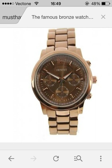 brown jewels watch