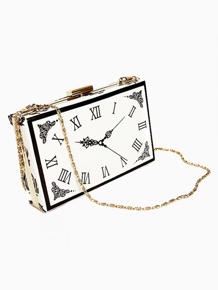Clock Pattern Bag With Chain Strap | Choies
