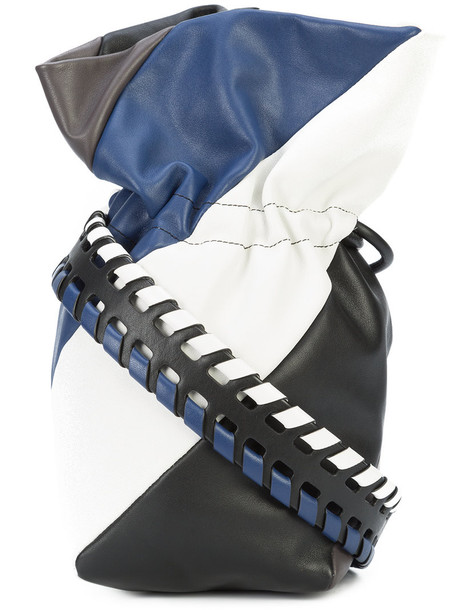 Dvf Diane Von Furstenberg women drawstring bag leather black