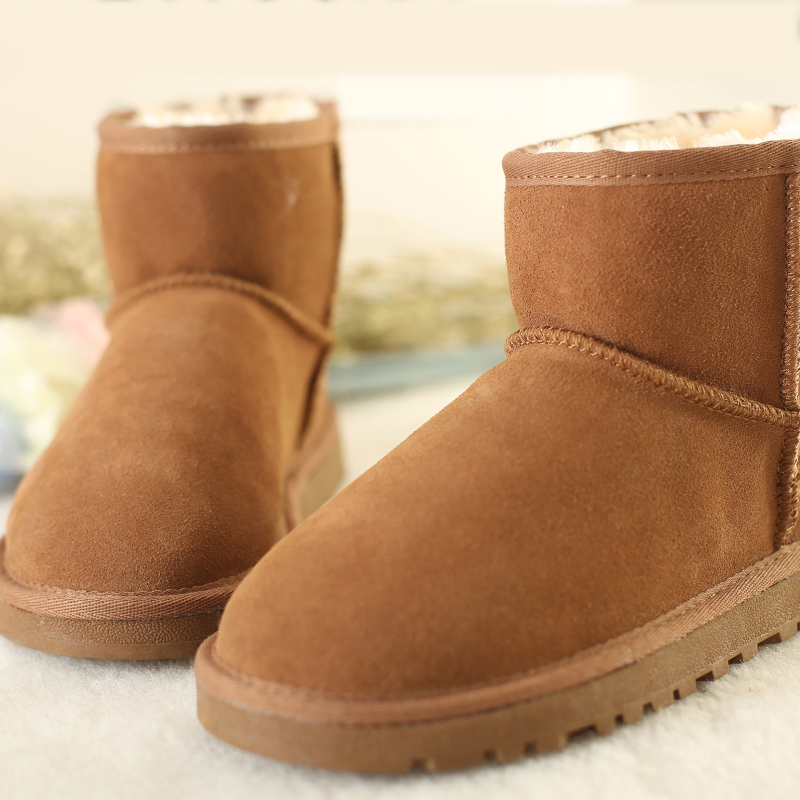 com : Buy 2014 Women real leather snow boots winter warm snow ...