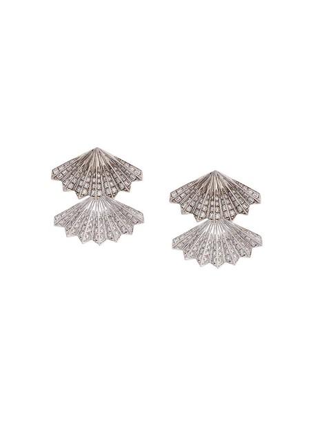 Anita Ko women earrings gold white grey jewels