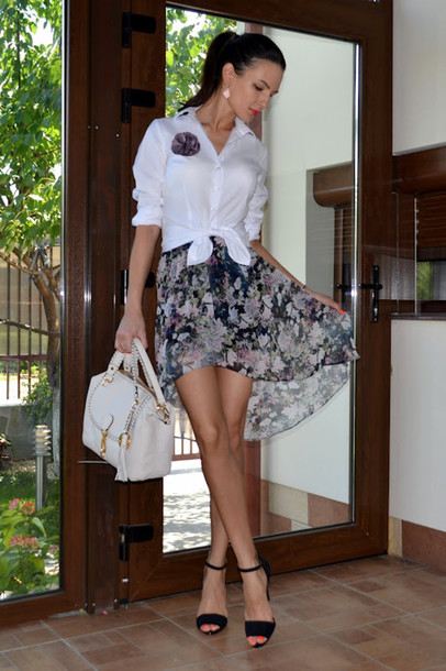 my silk fairytale shirt skirt shoes bag jewels