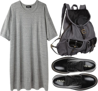dress t-shirt dress grey t-shirt grey dress sets outfit