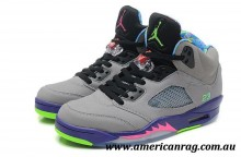 Top Nike Air Jordan 5 Jordans Shoes Bel Air Gey Purple Black For Men/Air Jordan 5