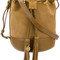 See by chloé - suede bucket bag - women - cotton/calf leather - one size, brown, cotton/calf leather