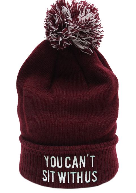 You Can't Sit With Us Beanie Hat £8.99   Free UK Delivery - #TeeIsland