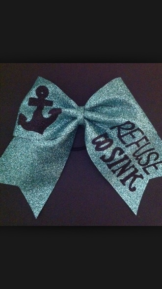 light blue sparkles cute cheerleading bows