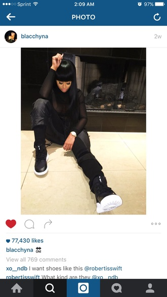 pants blacc chyna