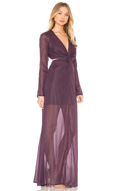 THE JETSET DIARIES dress maxi dress maxi purple