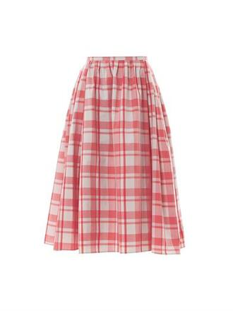 skirt mimi gingham-print midi skirt thierry colson