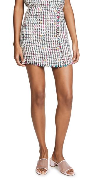 WAYF Monroe Miniskirt in black / white