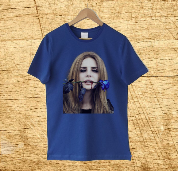 t-shirt lana del rey lana del rey shirt lana del rey t shirt navy t shirt lana del rey's shirt