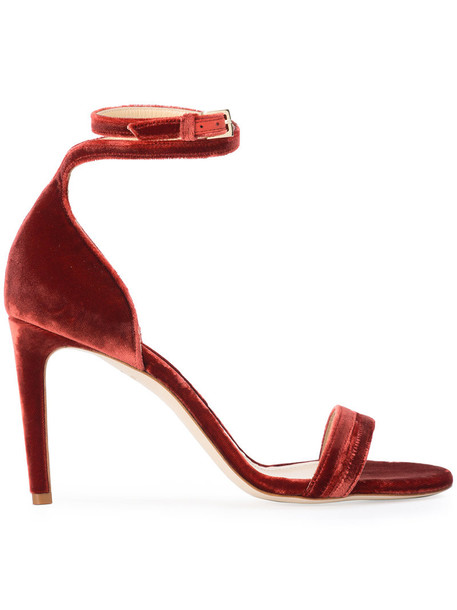 CHLOE GOSSELIN women sandals leather red shoes