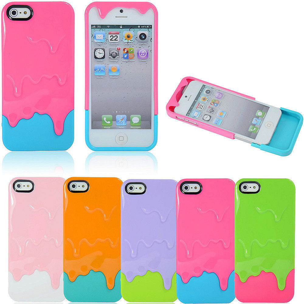 3D Melting Ice Cream Cute Hard Case Cover for Apple iPhone 5 5S 5th | eBay