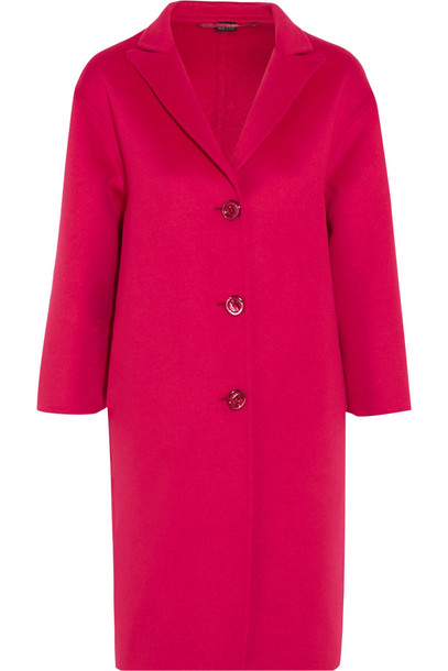 Gucci Oversized Wool and Angora-Blend Coat in pink