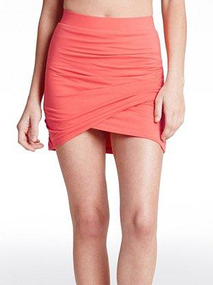 Sancia Wrap Mini Skirt at Guess