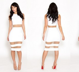 Aliexpress.com : Buy 2014 new lace mesh white hollow bodycon bandage dress sexy club wear clubwear jumpsuit women bodysuits free shipping PLM4225 from Reliable lace wigs brazilian hair suppliers on sexy dress 2014