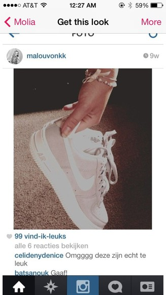 shoes sneakers white nike air nike nike air force 1 nike air force one pink nike sneakers low top sneakers suede shoes suede cream