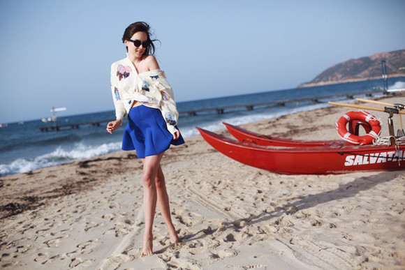 style scrapbook sunglasses skirt