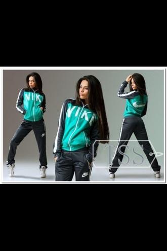 jumpsuit green jacket black jumpsuit nike jacket swoosh