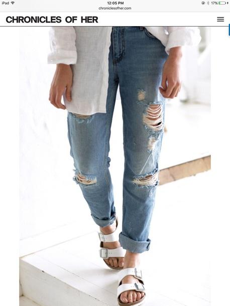 jeans light blue ripped boyfriend light blue ripped