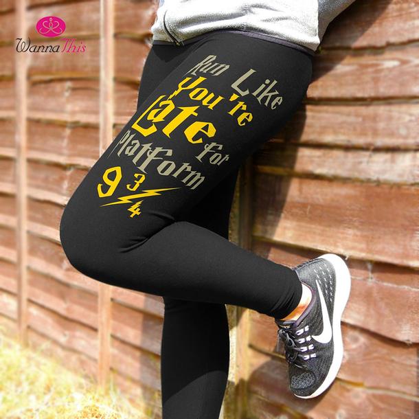 957f56a00a leggings harry potter workout leggings fashion high waist fitness leggings
