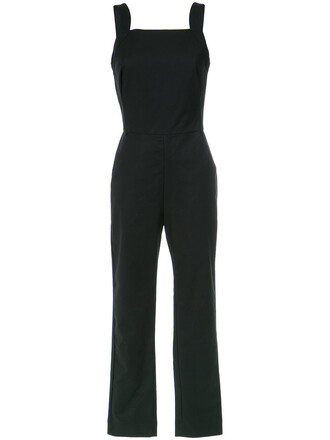 jumpsuit women spandex cotton black