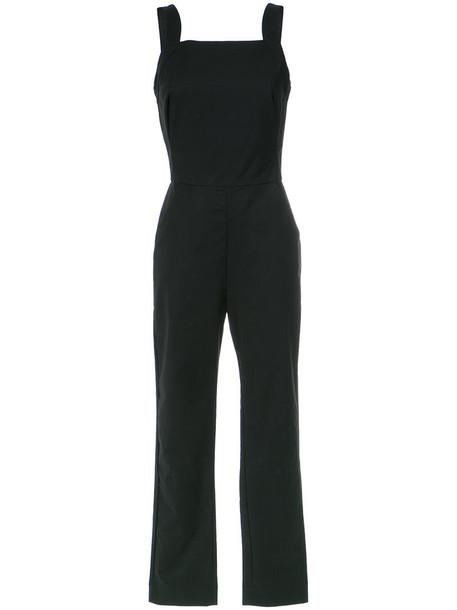jumpsuit women spandex cotton black
