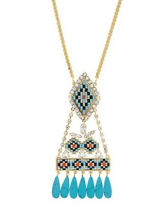 necklace blue jewels