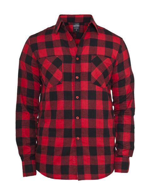Urban Classics Checked Flanell Black/Red Hemd für Herren