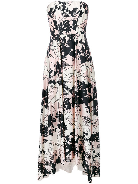 dress strapless dress strapless women floral purple pink