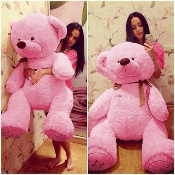 home accessory teddy bear stuffed animal giant teddy bear giant stuffed animal pink teddy bear pink bear pink