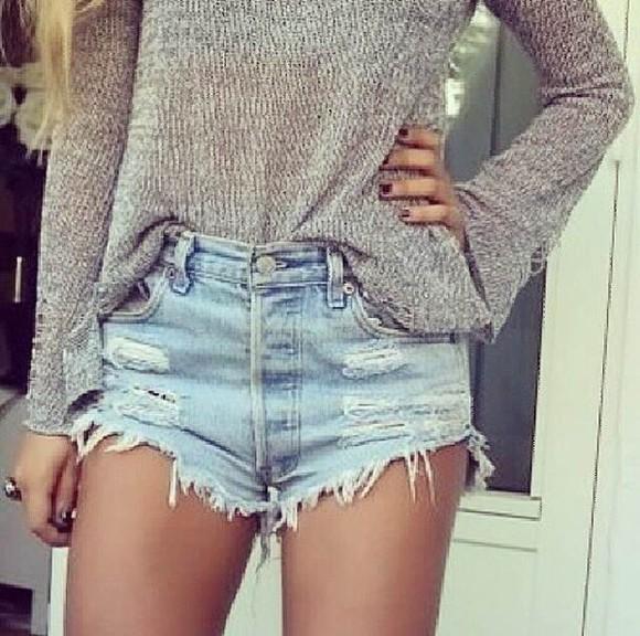 High waisted shorts denim shorts ripped jeans ripped shorts distressed shorts high waist jeans high waist distressed denim shorts