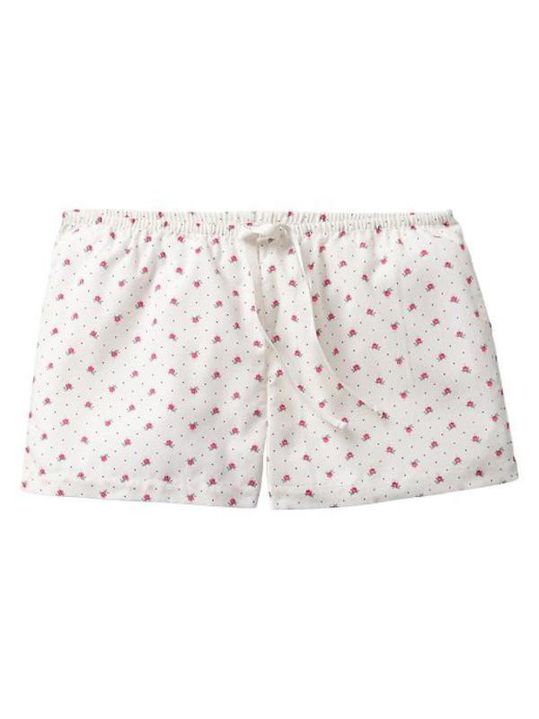 gap printed pj shorts antique white sleepwear underwear 981080003