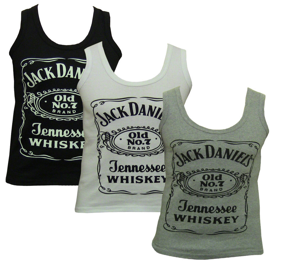 Mens Jack Daniel's Muscle Vest Classic Sleeveless Tank Top Gym T Shirt s M L XL | eBay