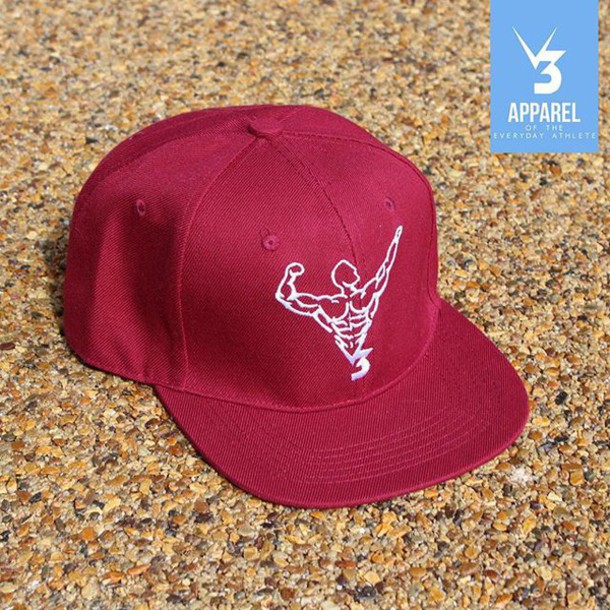 hat v3 apparel snapback motivation fitness gym style fashion burgundy vans  nike menswear mens workout unisex f58ac290b95