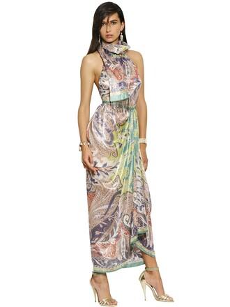 dress long dress long silk