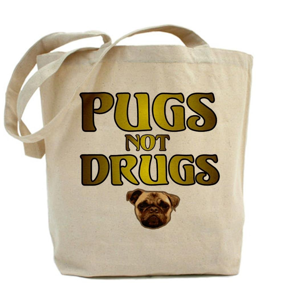 Amazon.com: CafePress Pugs Not Drugs Tote Bag - Standard Multi-color: Kitchen & Dining