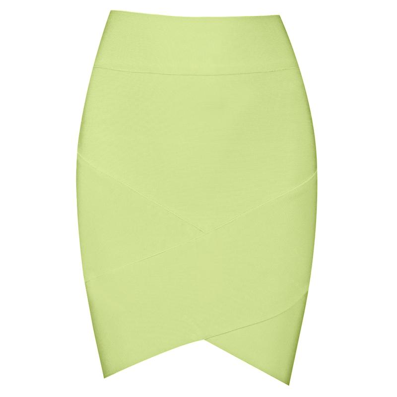 green pencil high waist skirt bqueen light green simple