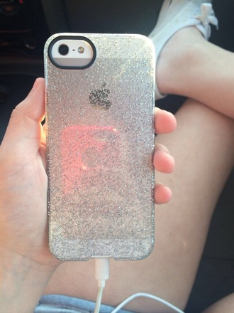 phone cover clear glitter iphone 5 case plastic