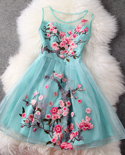 #235 embroidered chineses style dress