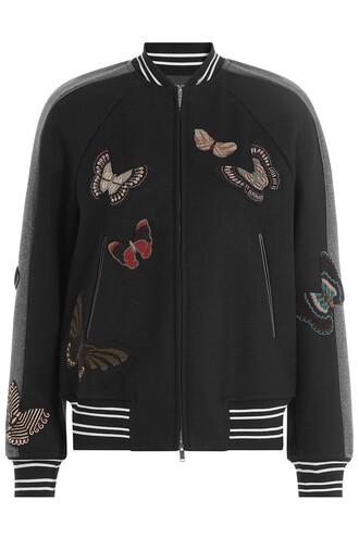 jacket bomber jacket wool black
