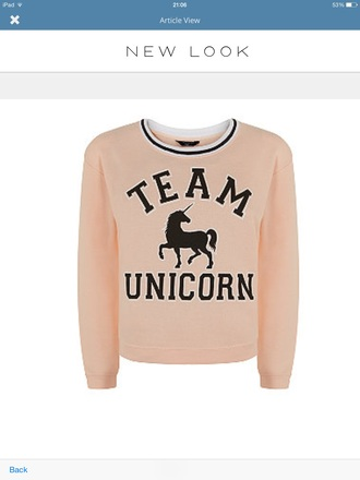 sweater peach unicorn teamunicorn