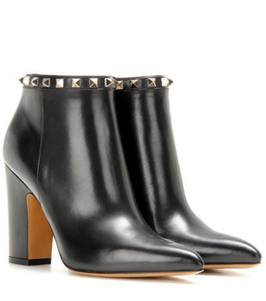 Valentino leather ankle boots boots ankle boots leather black shoes