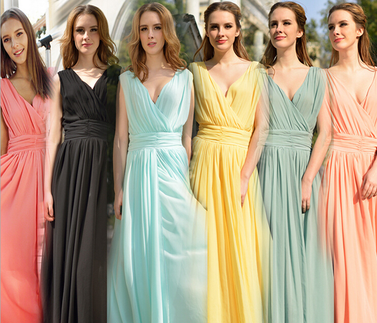 Aliexpress.com : Buy Exclusive! S XL 6 Colors, 2014 New Hot Sale Women High Quality Slim Bohemia Maxi Long Chiffon Beach Sleeveless V Neck Dresses from Reliable dress shirts for sale suppliers on Dora Sweet Shop