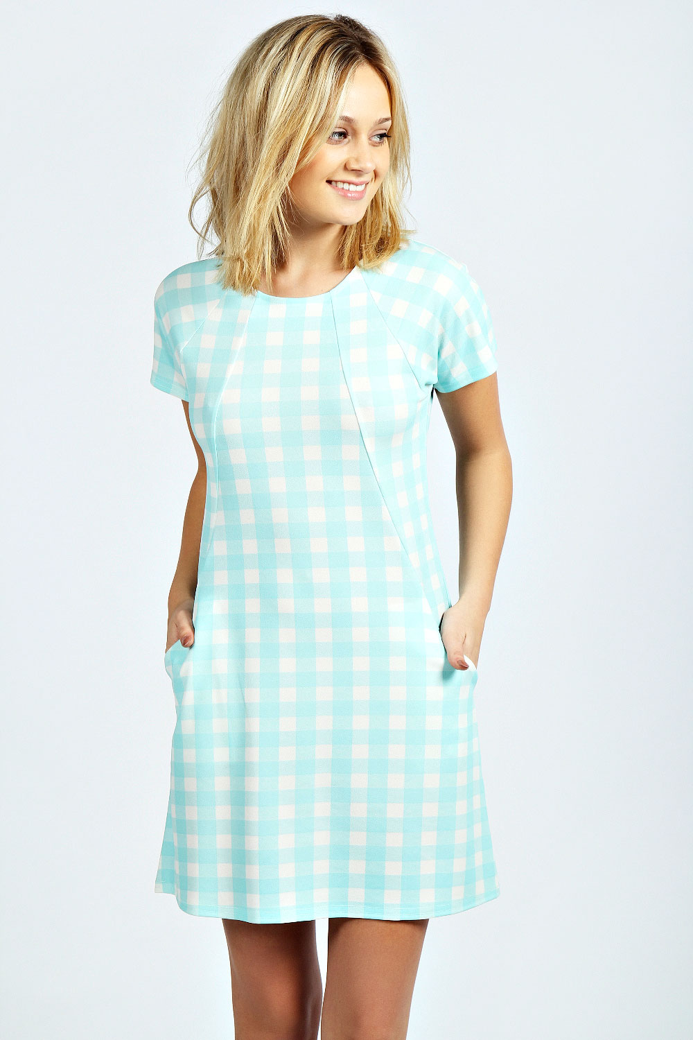 Rachael Gingham Pocket Shift Dress
