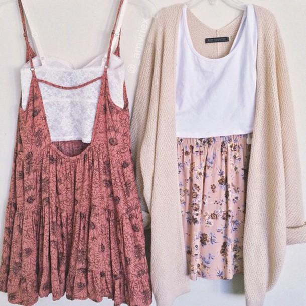 dress cardigan top t-shirt tank top skirt