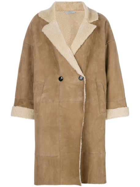 Dusan coat double breasted women brown