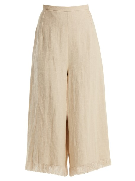ANDREW GN cropped beige pants